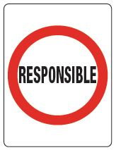 Responsible sign